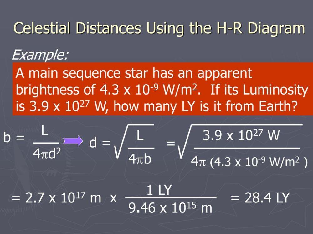 medium resolution of celestial distances using the h r diagram