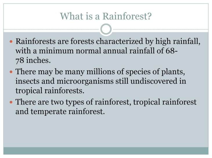 What is a Rainforest Rainforests are forests characterized by high  rainfall, with a minimum normal