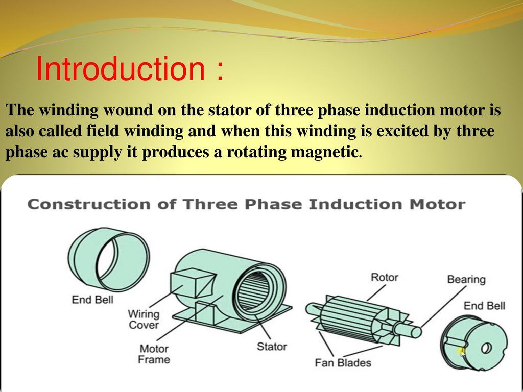 hight resolution of 3 introduction the winding wound on the stator of three phase induction motor is also called field winding and when this winding is excited by three phase