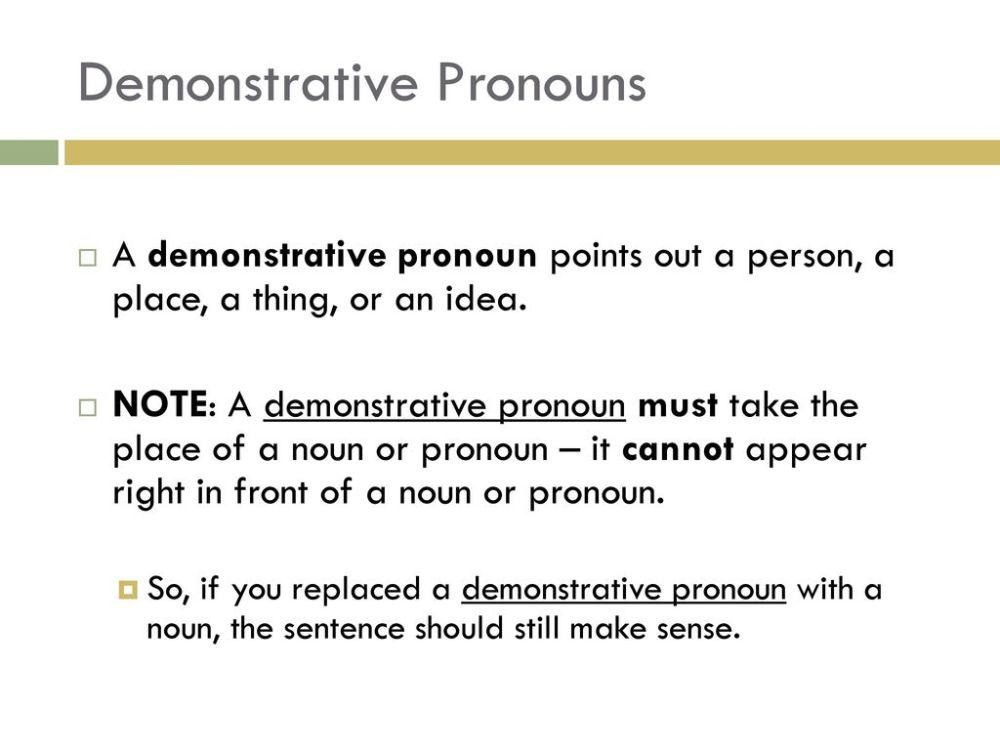 medium resolution of Demonstrative