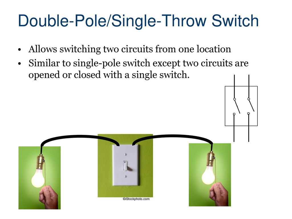 hight resolution of double pole single throw switch