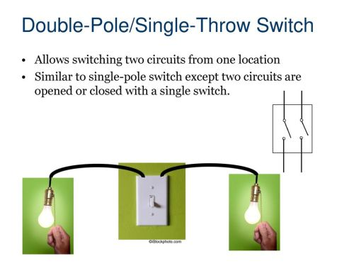 small resolution of double pole single throw switch