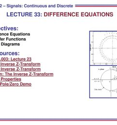 lecture 33 difference equations [ 1024 x 768 Pixel ]
