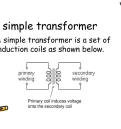a simple transformer a simple transformer is a set of induction coils as shown below  [ 1024 x 768 Pixel ]