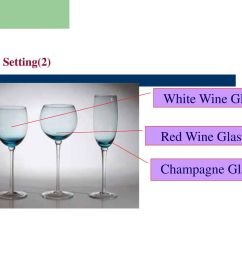 20 table setting 2 white wine glass red wine glass champagne glass [ 1024 x 768 Pixel ]