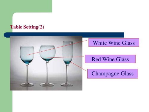 small resolution of 20 table setting 2 white wine glass red wine glass champagne glass