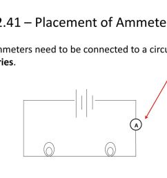 2 41 placement of ammeter ammeters need to be connected to a circuit in series  [ 1024 x 768 Pixel ]