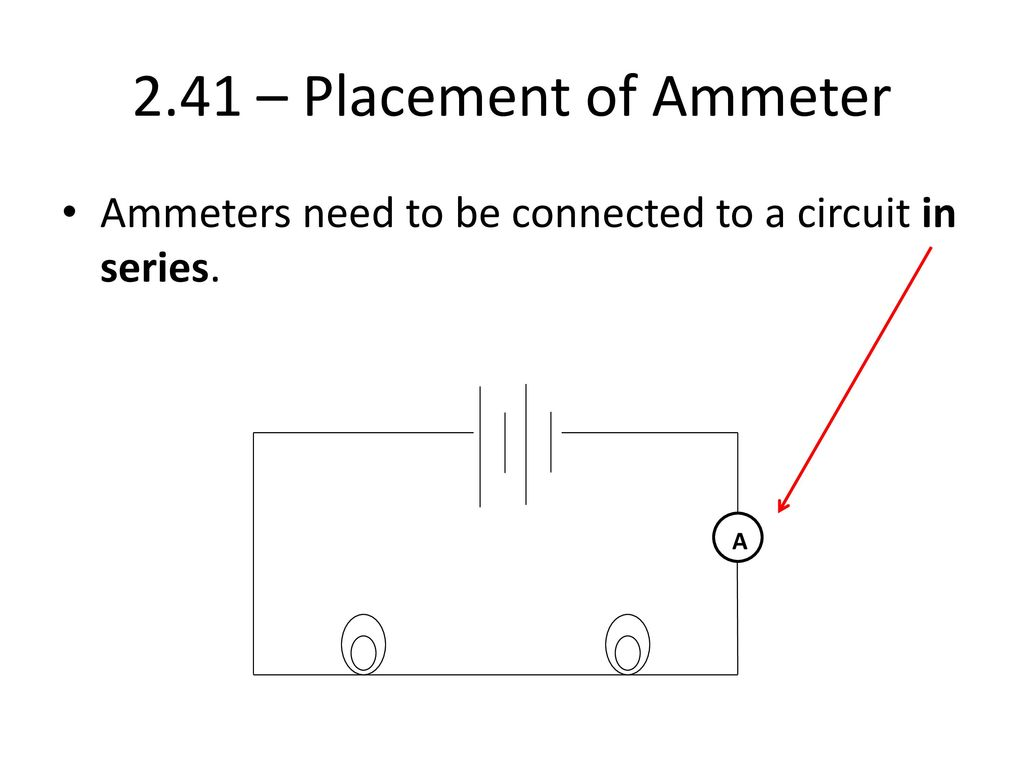hight resolution of 2 41 placement of ammeter ammeters need to be connected to a circuit in series