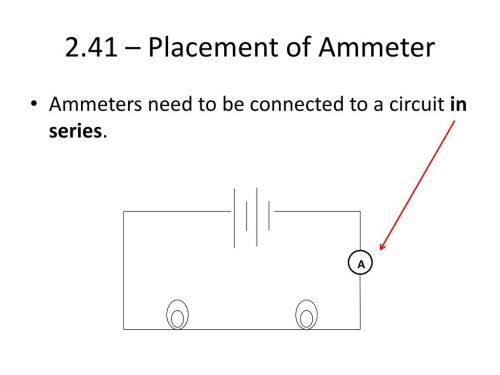 small resolution of 2 41 placement of ammeter ammeters need to be connected to a circuit in series