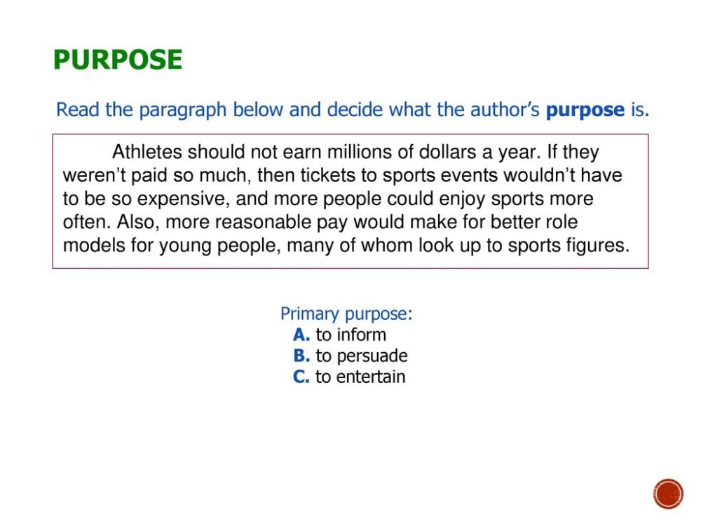medium resolution of Author's Purpose and Tone - ppt download