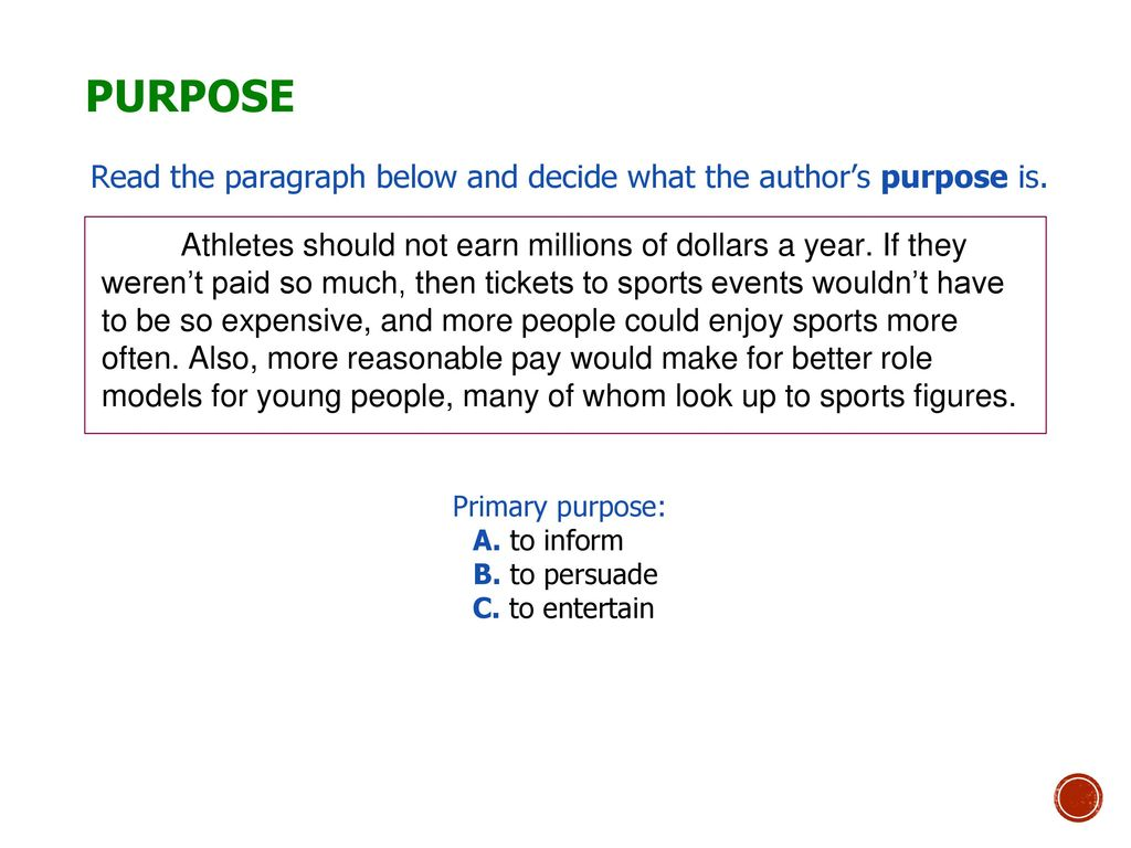 hight resolution of Author's Purpose and Tone - ppt download
