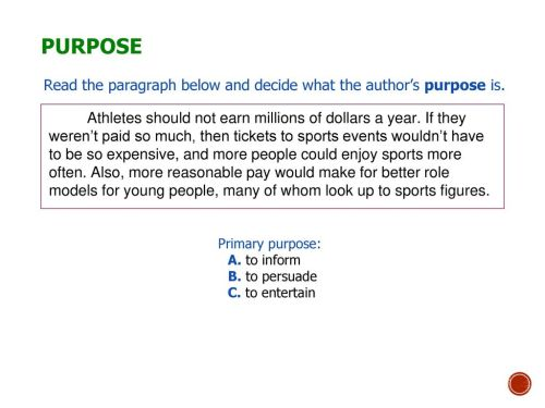 small resolution of Author's Purpose and Tone - ppt download