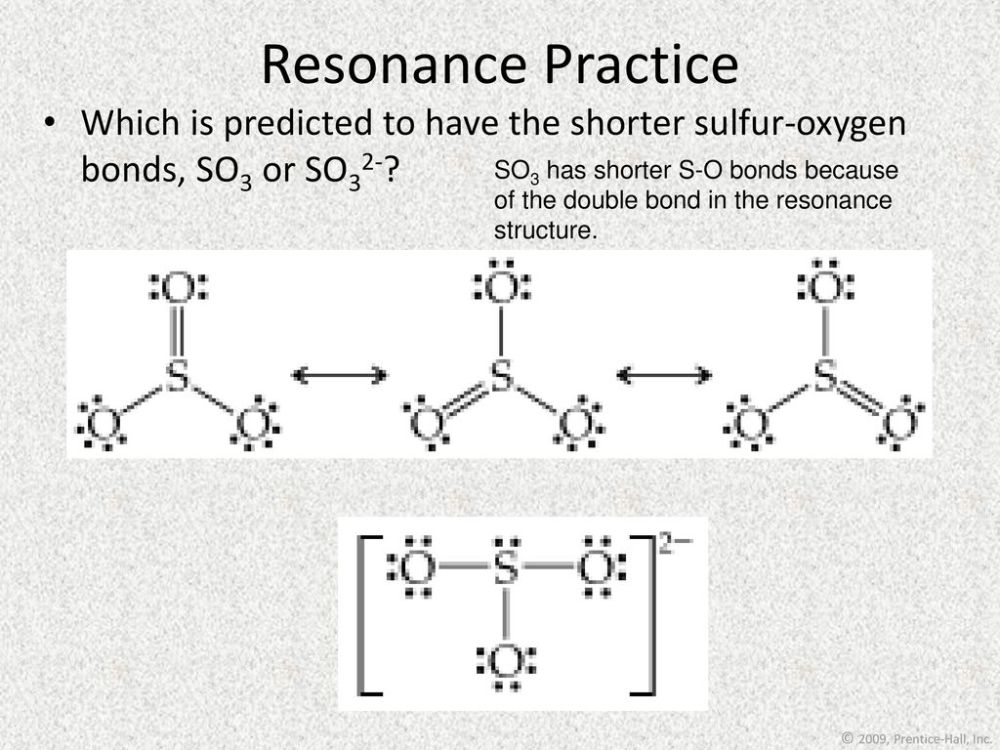 medium resolution of resonance practice which is predicted to have the shorter sulfur oxygen bonds so3 or