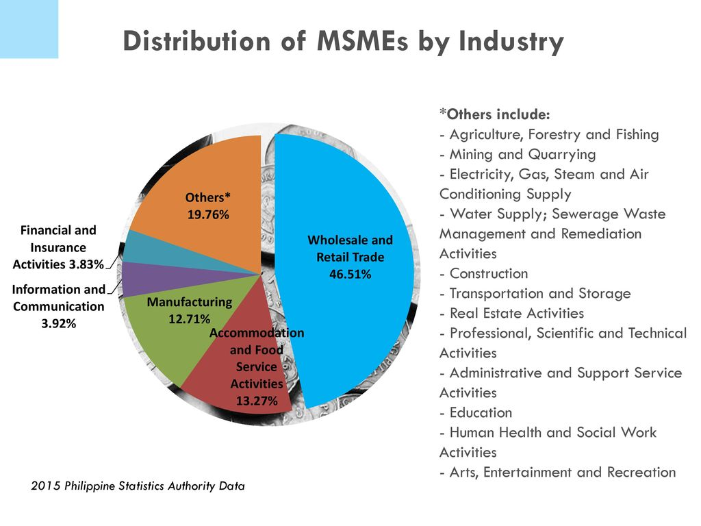 hight resolution of distribution of msmes by industry