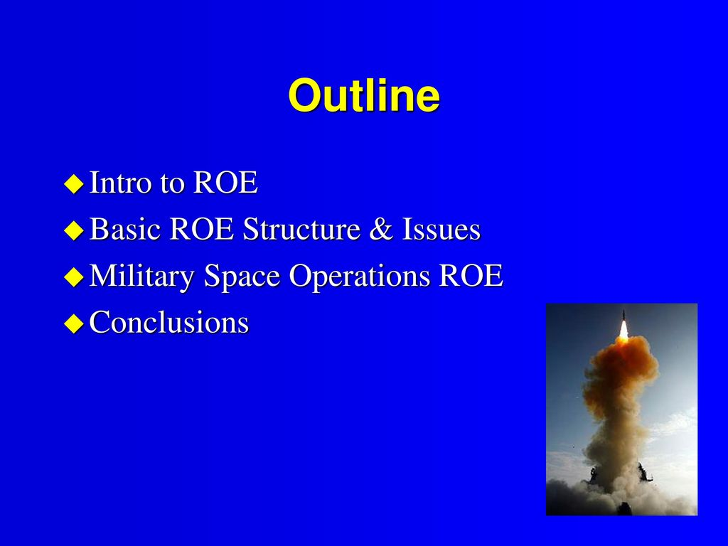 hight resolution of outline intro to roe basic roe structure issues