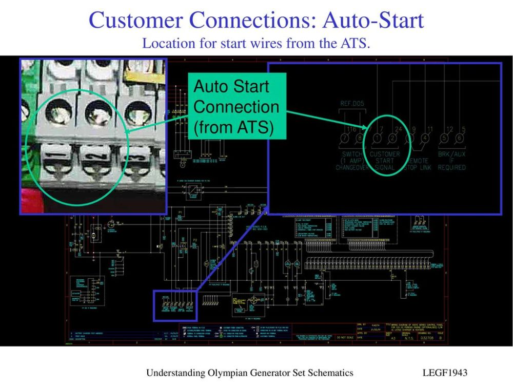 medium resolution of customer connections auto start location for start wires from the ats