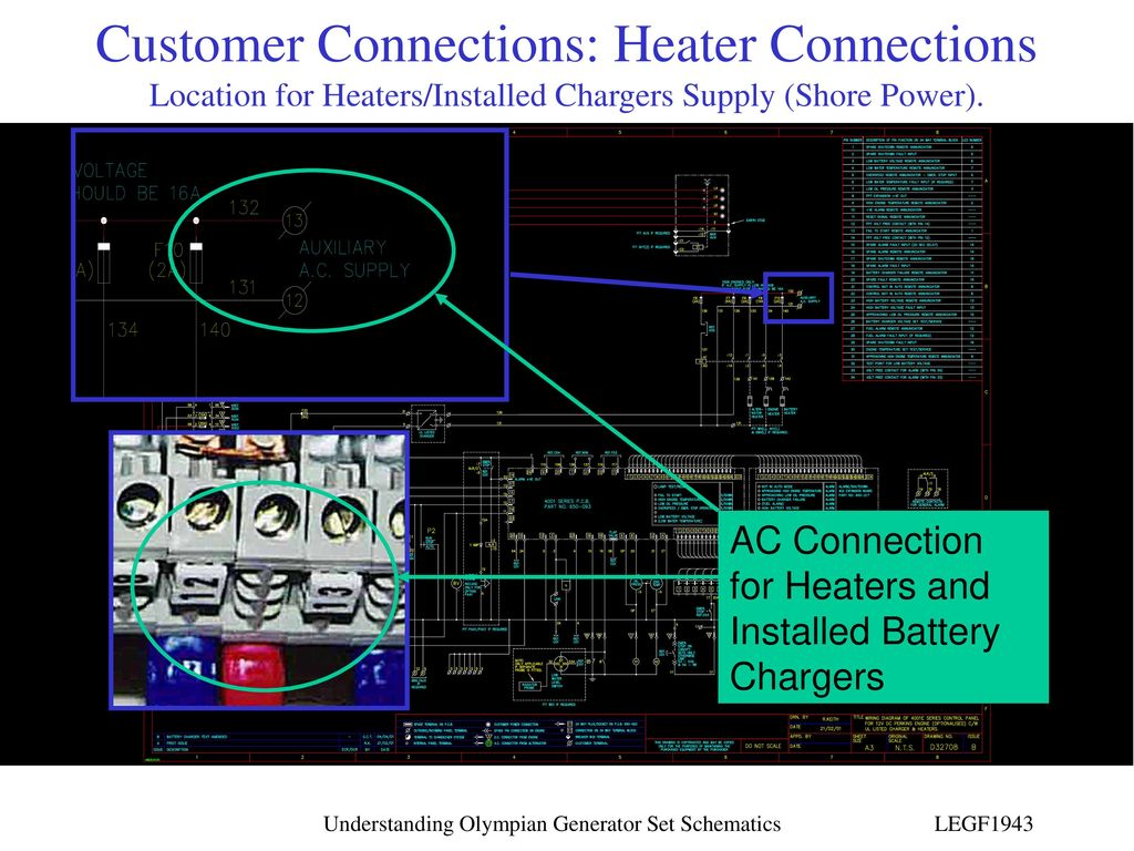 hight resolution of customer connections heater connections location for heaters installed chargers supply shore power