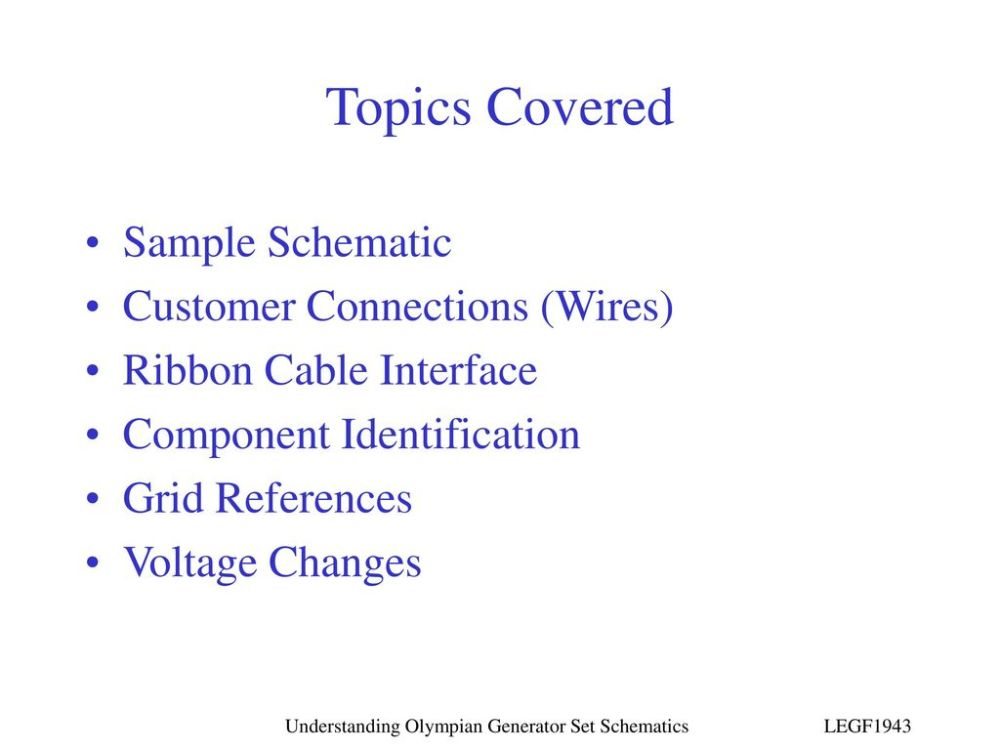 medium resolution of topics covered sample schematic customer connections wires