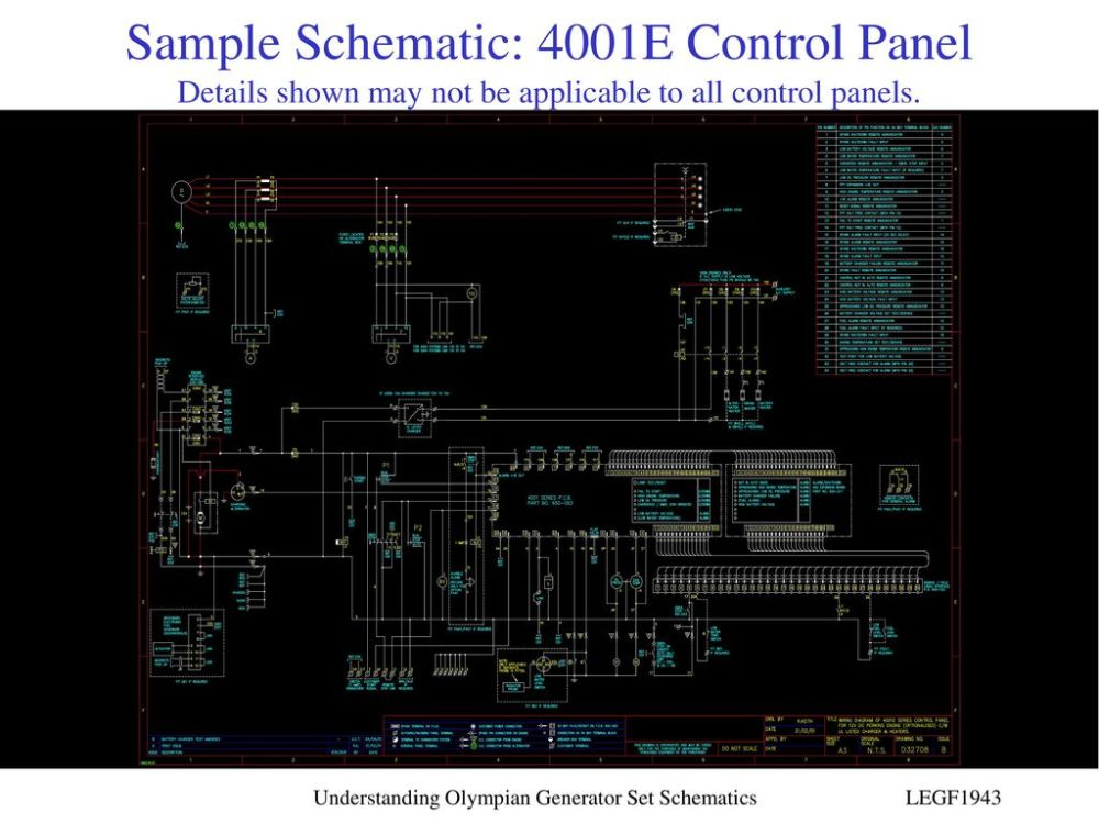 medium resolution of sample schematic 4001e control panel details shown may not be applicable to all control panels