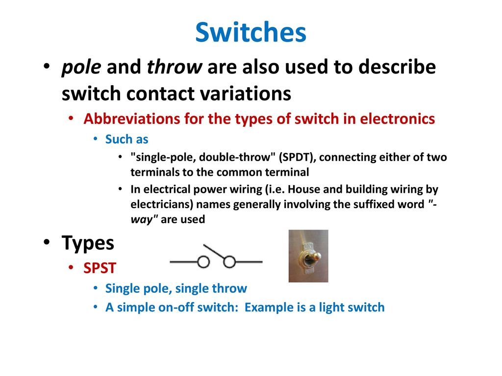 hight resolution of switches pole and throw are also used to describe switch contact variations abbreviations for
