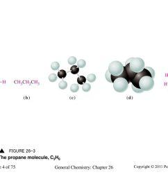 4 the propane molecule c3h8 chemistry 140 fall 2002 a structural formula  [ 1024 x 768 Pixel ]