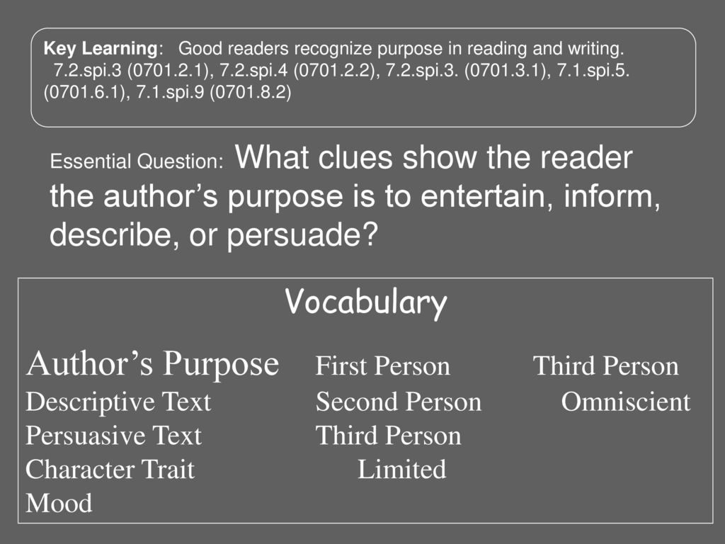 hight resolution of Author's Purpose What clues show the reader the author's purpose is to  inform