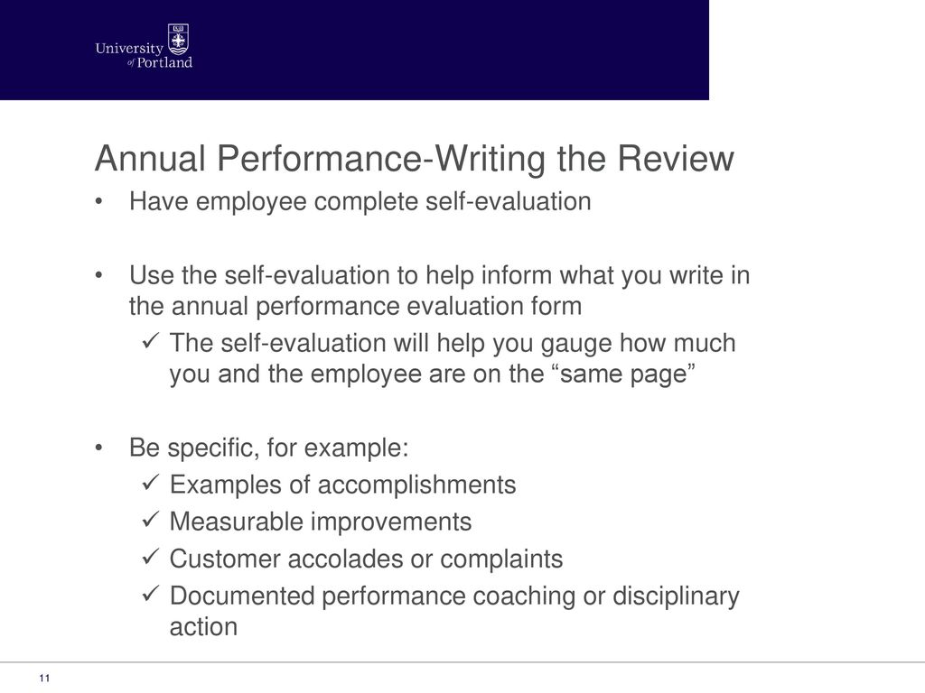 Annual Performance-Writing The Review
