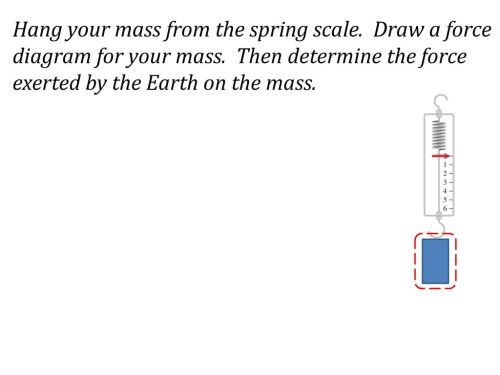 small resolution of hang your mass from the spring scale