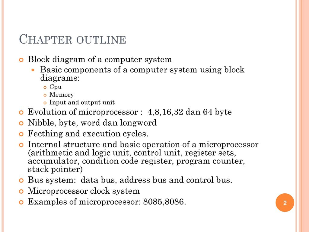 hight resolution of chapter outline block diagram of a computer system