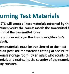 standards of learning tests examiner and proctor training pptelectrical plan examiners transmittal form 10 [ 1024 x 768 Pixel ]