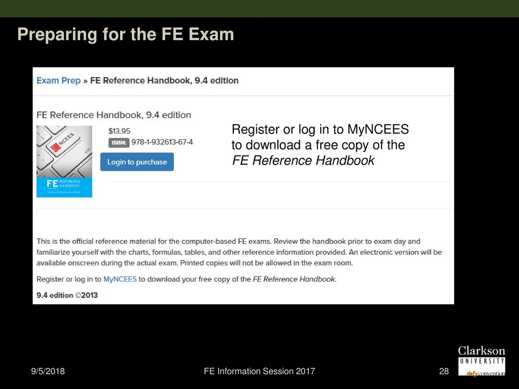 fe information session ppt