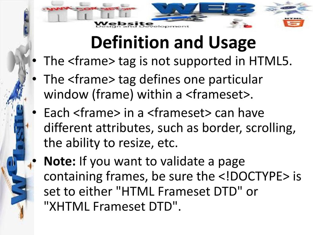 Frame Tag In Html5 | Siteframes.co