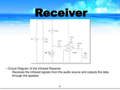 small resolution of receiver circuit diagram of the infrared receiver
