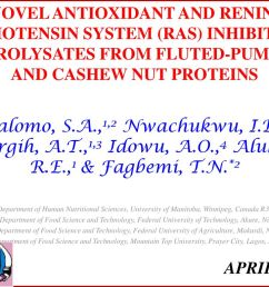novel antioxidant and renin angiotensin system ras inhibitory hydrolysates from fluted pumpkin [ 1024 x 768 Pixel ]