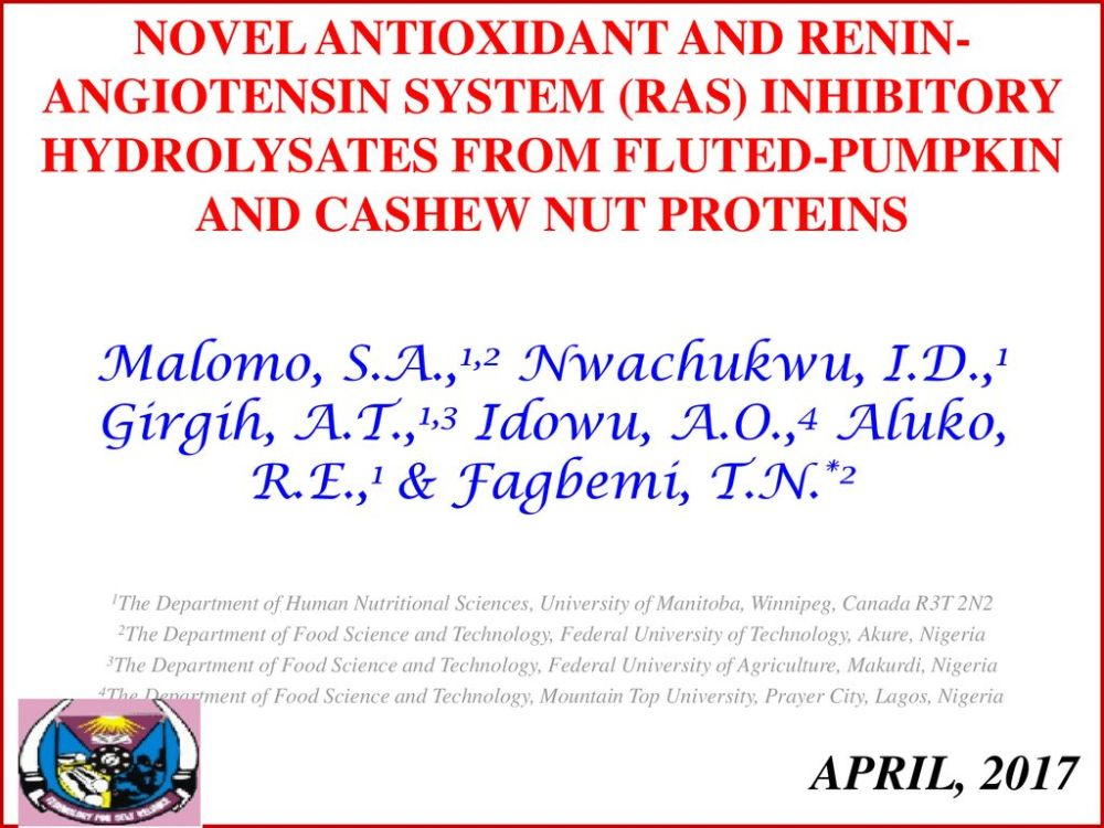 medium resolution of novel antioxidant and renin angiotensin system ras inhibitory hydrolysates from fluted pumpkin