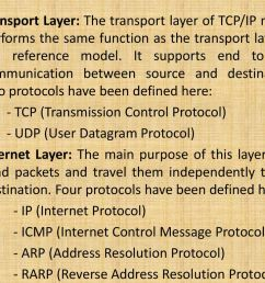 transport layer the transport layer of tcp ip model performs the same function as [ 1024 x 768 Pixel ]