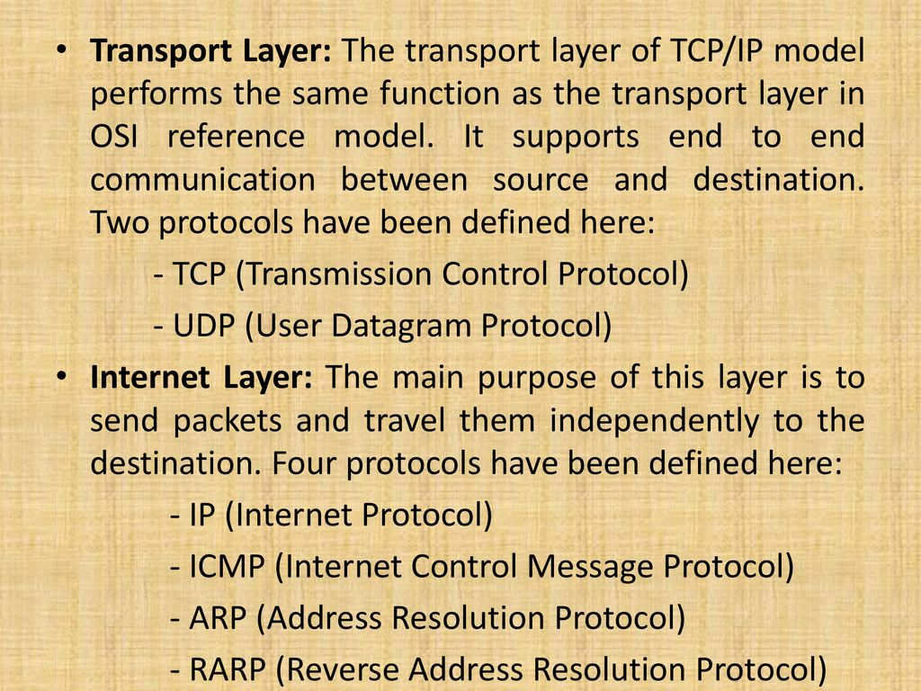 hight resolution of transport layer the transport layer of tcp ip model performs the same function as