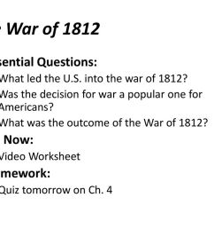 War Of 1812 Worksheet - Promotiontablecovers [ 768 x 1024 Pixel ]