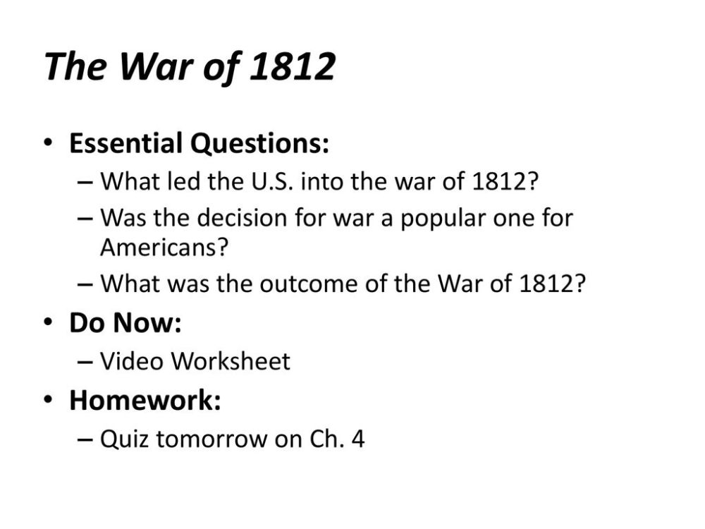 medium resolution of War Of 1812 Worksheet - Promotiontablecovers