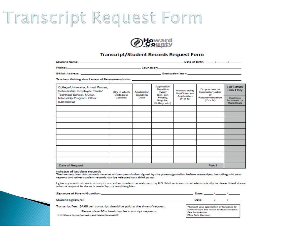 17 Transcript Request Form