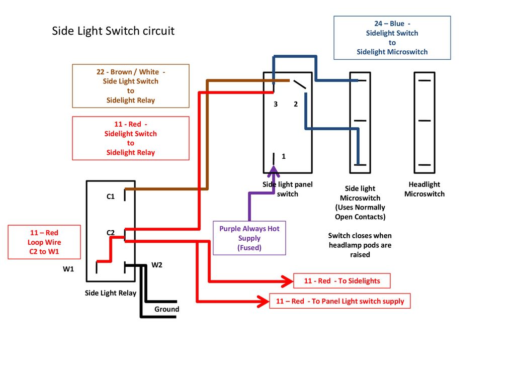 hight resolution of side light switch circuit