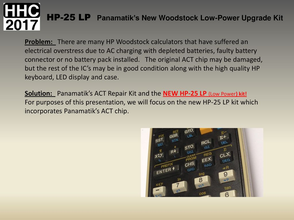hp 25 lp calculator
