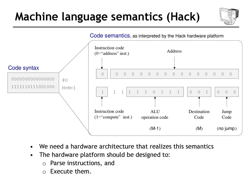hight resolution of machine language semantics hack