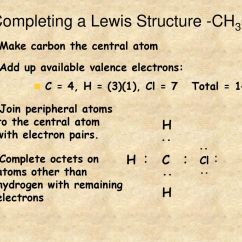 Lewis Dot Diagram For Ch3cl 2002 Saab 9 3 Radio Wiring Bonding Ppt Download Completing A Structure
