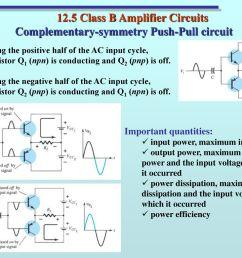 12 5 class b amplifier circuits [ 1024 x 768 Pixel ]