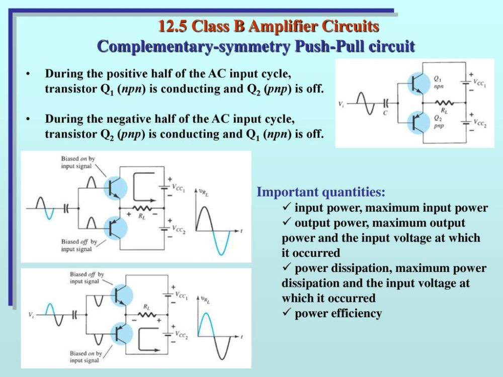 medium resolution of 12 5 class b amplifier circuits