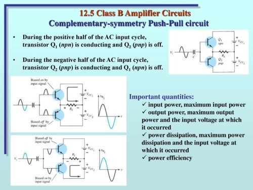 small resolution of 12 5 class b amplifier circuits