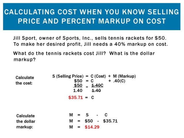 Markups and Markdowns: Perishables and Breakeven Analysis - ppt