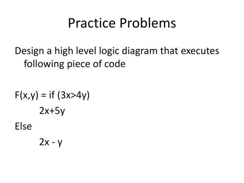 small resolution of practice problems design a high level logic diagram that executes following piece of code f