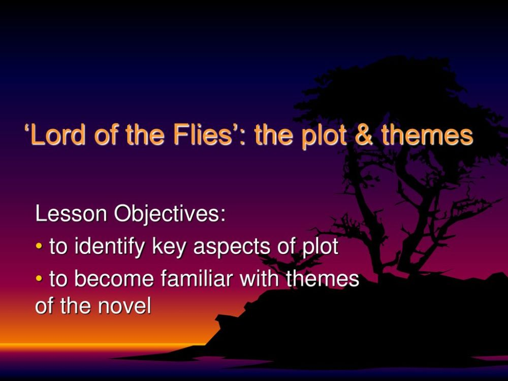 medium resolution of  lord of the flies the plot themes